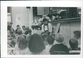Naomi Dueck telling a children's story- 3 photos