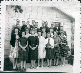 Group pictures (two) at Meeting of Home Mission Workers; for names see Messenger
