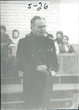 H.K.Schellenberg, Bishop of Chortizer Mennonite Church; retired in 1983