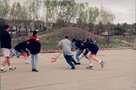 street hockey game
