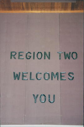 Lettering: Region Two Welcomes You