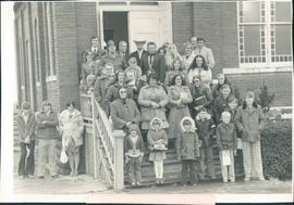 Group that attended services on fourth Sunday; C. F. Dueck, pastor, second from left, back row