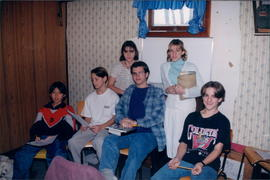Wes Chamberlain (centre) with the Young Teen Sunday School class