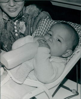 Unidentified baby who attended