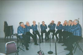 Seniors' Harmonica Band. EMC members: Peter Schellenberg, Irwin Friesen