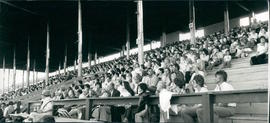 Audience at Encounter '83 with Janz Team at Morris Stampede Grounds