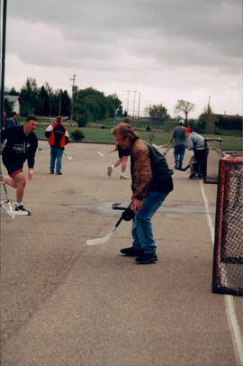 "Four ""street hockey"" scenes"