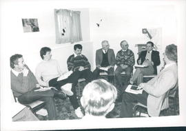 One of eight discussion groups