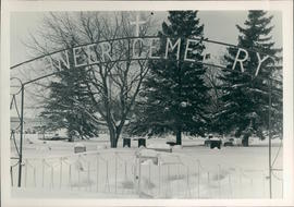Pioneer Cemetery, Steinbach MB; second from right, front, Helen Schellenberg