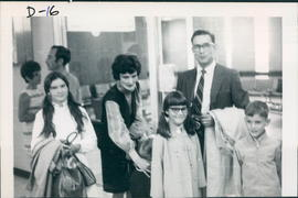John & Joyce Dyck with family at Winnipeg Airport leaving for German