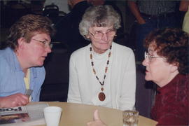 Anna Bueckert (Taber, Alta.), Joyce Dyck, Anne Wiebe (missionary to Mexico)