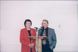 Mary & Melvin Koop at an appreciation night for their services, 1971-76, 1986-1999