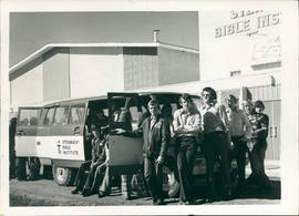 12-seater bus. Deputation groups in 72-74 raised funds for its purchase