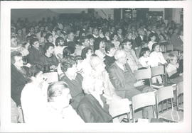 Audience at Rosenort East school auditorium - 3 photos