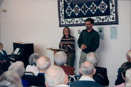 Luella and Hans Rahn share at the Seniors' Fellowship