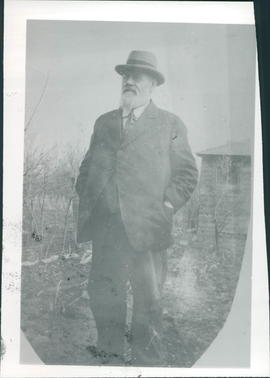 "Jacob S. Friesen, publisher, printer and editor of the ""Steinbach Post"" 1913-1923"