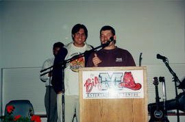 Solomon Beaulieu, Mark Friesen (microphone)