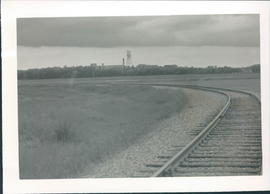 View of Portage la Prairie from railroad track