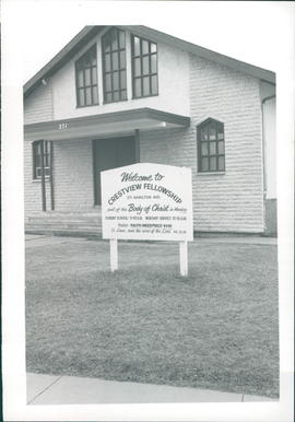 Church building and sign