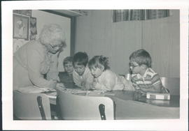 Kay Hamm with Kindergarten 4 class