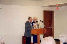 John & Leona Reimer singing & playing the accordian at Western Gospel Mission Reunion