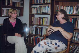Assistant editor Becky Buhler, missionary Evelyn Barkman