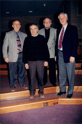Rev. Stan Plett, Rev. Edwin Plett, Rev. David Thiessen, Dr. Don Thiessen
