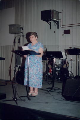 Anne Braun, long-time missionary of Tres Palmas congregation, Paraguay