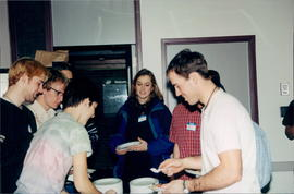 students with food