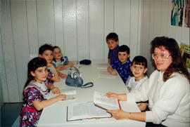Elaine (Plett) Reimer and Sunday School class