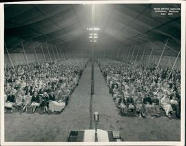 Inside the tent during Brunk Tent Campaign