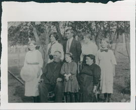 Heinrich E. Kornelson family. c1910 - two pictures