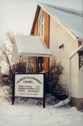 Picture of church building and sign