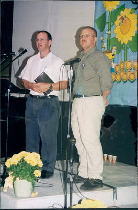 Pastor Jake Enns and John Dyck