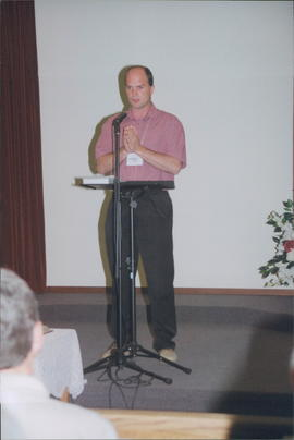 Pastor Darren Plett, chairman of Board of Ministers and Deacons