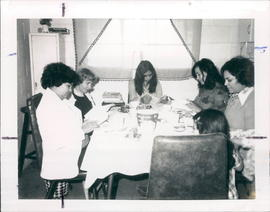 Alvina Fast, second from left, with Friendship Bible Coffee in El Paso