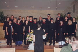Luann Hiebert leads college chorale