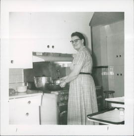 Mary Kornels, second cook, at Eventide Home