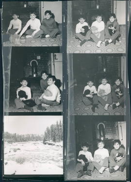 Mr. & Mrs. Curt Bork and family; two sets of pictures. Children's pictures probably 10 years later