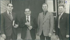 L-R: Peter H.Dyck, George Rempel, Jake Knelsen, John Friesen, all of Wymark SK