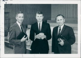 L-R: Cliff Reimer, Gil Reimer (missionaries to Panama), Pastor Arnold Fast