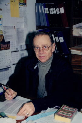 Abe Warkentin, editor of Die Post and Steinbach EMC member