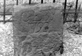 Oldest stone in the Eby cemetery, 1793 (Hammer