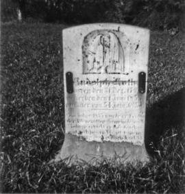 Tombstone of Rudolph Roth (1798-1853/54. Ordained