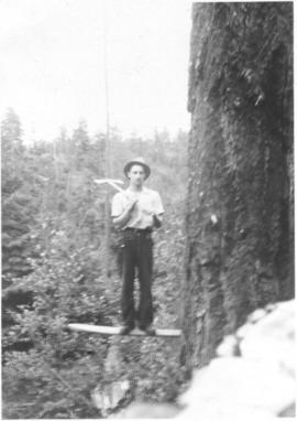 Nyal Shantz standing on a spring board