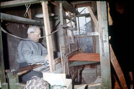 Amos Bowman, carpet weaver in St. Jacobs at 200