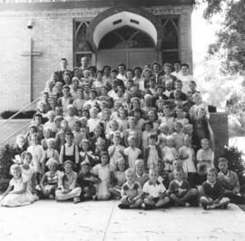 Teachers & pupils of the Summer Bible School at Waterloo-Kitchener United Mennonite Church (W...