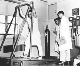 A Mennonite conscientious objector participates in experiment at the National Institute of Health at Bethesda, Md.