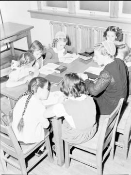 Children's Sunday school class at First Mennonite Church in Kitchener
