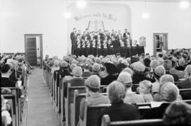 Goshen College chorus at St. Jacobs Mennonite Church